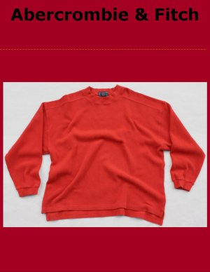 Men's Abercrombie & Fitch Burnt Orange V-Neck Cotton Sweater Large