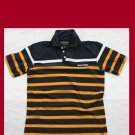 Used Boy's XL abercrombie Polo Shirt Blue Yellow White Stripe