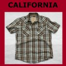 Used Men's Hollister California Plaid Cotton Surfer Beach Shirt Medium