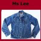 Vintage Women's Ms Lee  Unlined Denim Jean Jacket Size 5 USA