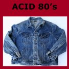 Vintage 80&#39;s Men&#39;s Lee Rider Acid Wash Jean Jacket XL USA