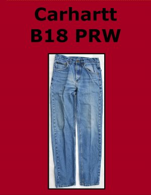 Used Carhartt B18: Men�s Traditional Fit Work Jean 30 x 34 USA