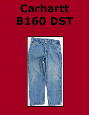 Used Carhartt B160 DST Men�s Relaxed Fit Work Jean 34 x 29