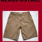 Men's AEROPOSTALE  Flat-Front Solid Canyon Brown Short Size 31