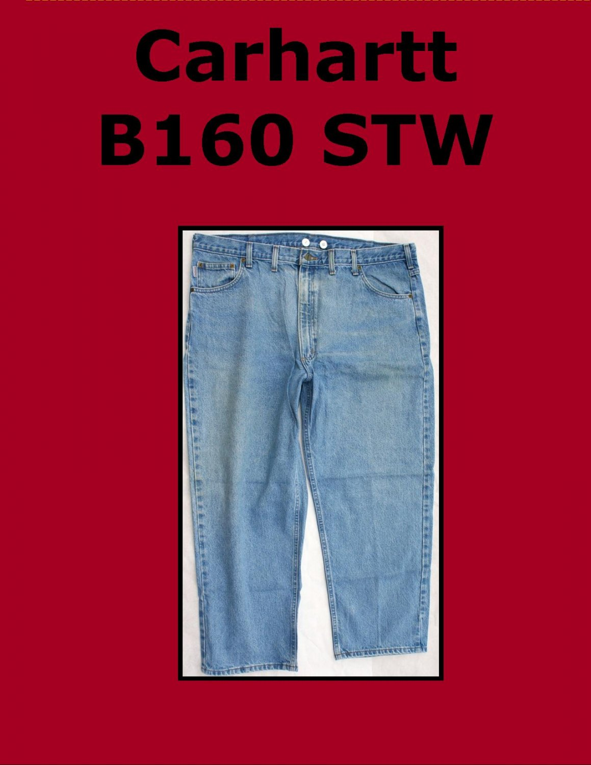 Used Carhartt B160 STW Men�s Relaxed Fit Work Jean 44 x 28