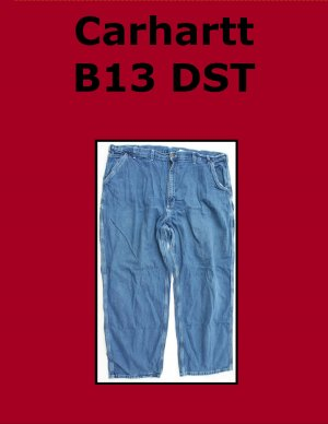 Used Carhartt B13 DST Men�s Washed Denim Work Dungaree 47x30 USA