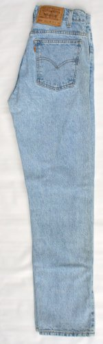 Mens Levi 505 Orange Tab Zip Fly Regular Fit  Jeans 28 x 30