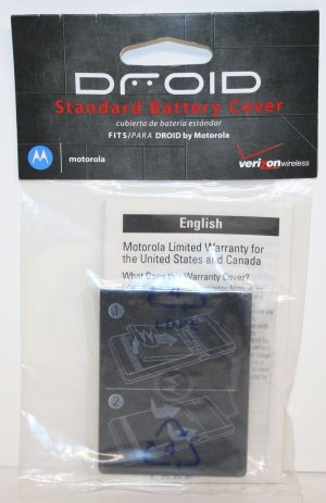 OEM Motorola Battery Cover Door  Motorola DROID SJHN0356A
