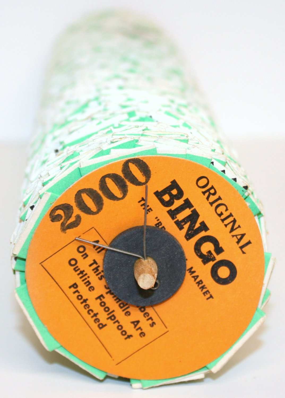 UNIQUE 1 (One) Spindle ORIGINAL JAR-O'-DO BINGO 2000 Tickets
