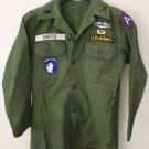 Vintage U.S. ARMY  Vietnam Era Military Sateen Shirt Jungle Expert