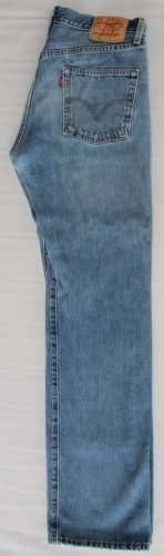 "Men's ""THRASHED"" Levi 501XX Red Tab Button Fly  Jeans ""Hige Fading""  33 x 34"