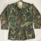 U.S. ARMY Military Field Shirt/Coat - Woodland Camo RIPSTOP - Small Long