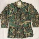 U.S. ARMY Military Field Shirt/Coat - Woodland Camo RIPSTOP - Small Long