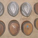 1 Lot of 8 ea VINTAGE WOOD CAST ALUMINUM MILLINERY HAT FORMS