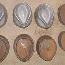 1 Lot of 8 ea VINTAGE WOOD CAST ALUMINUM MILLINERY HAT FORMS