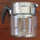 Vintage 9 cup Pyrex percolator #8859-B. later model with bakelite handle and chrome lid