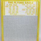 "Vintage ""4 ea"" 5 cent 2000 hole "" THE FLYING EAGLE "" Punchboards NEW USA"