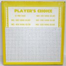 "Vintage ""4 ea"" 5 cent 1000 hole "" PLAYERS CHOICE "" Punchboards NEW USA"