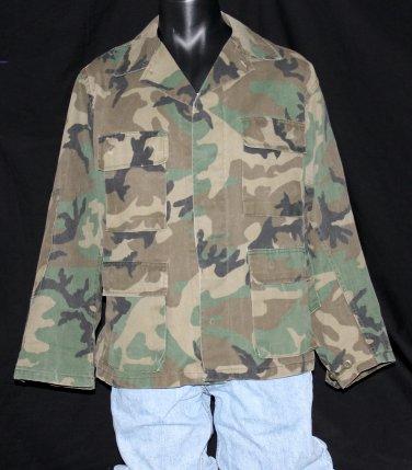 U.S. ARMY Military Field Shirt/Coat - Woodland Camo - Medium Regular
