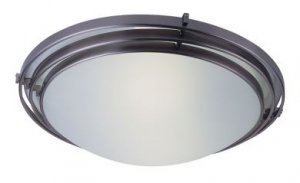 Trans Globe Brushed Nickel Halogen Ceiling Light 2484BN