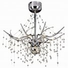 Modern 10 Light Chrome Semi Flush with Clear Crystal Accents MDN-555
