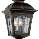 Trans Globe Antique Rust Outdoor Post Top Lantern 5422AR