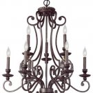 Trans Globe Gilded Pewter Finish 9 Light Chandelier 6569GP