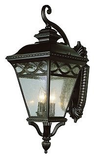 Trans Globe Bronze Outdoor Wall Lantern with Seeded Glass 50512BRB