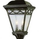 Trans Globe Bronze Post Top Lantern with Seeded Glass 50514BRB