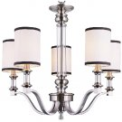 Trans Globe Brushed Nickel Chandelier with Fabric Shades 7975BN