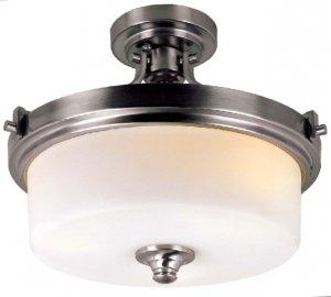 Trans Globe Brushed Nickel 3 Light Semi Flush Ceiling Light 7925BN