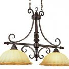 Trans Globe Bronze/Gold Island Light with Champagne Frost Glass 2288DBG