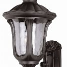 Trans Globe Black Outdoor Wall Lantern with Water Glass 5912BK