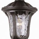 Trans Globe Black Outdoor Hanging Lantern with Water Glass 5914BK