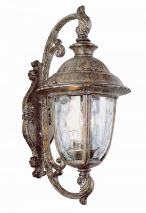 Trans Globe Rust Outdoor Wall Lantern with Water Glass 5902BRT