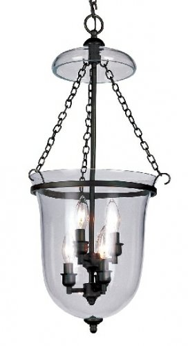 Trans Globe Oil Rubbed Bronze Pendant with Clear Glass 8706ROB