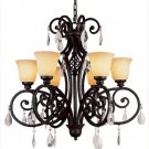 Trans Globe Dark Bronze Chandelier with Champagne Glass 9936DBZ