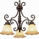 Trans Globe Dark Bronze and Gold Chandelier with Champagne Glass 2284DBG