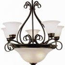 Trans Globe 7 Light Oil Rubbed Bronze Finish Chandelier 6397ROB