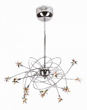 Trans Globe Modern Hemera Collection 15 Lt. Chrome Pendant MDN-429