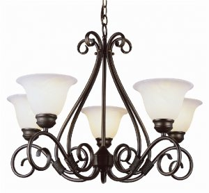 Trans Globe 5 Light Oil Rubbed Bronze Finish Chandelier 6395ROB