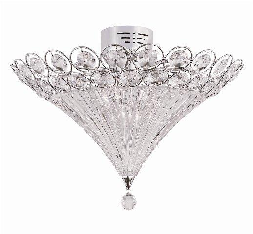 Trans Globe 12 Light All Crystal Ceiling Light MDN-907