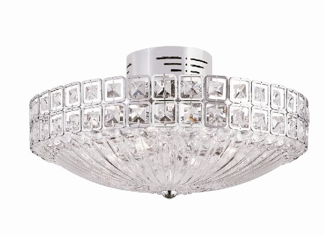 Trans Globe All Square Crystal Ceiling Light MDN-909