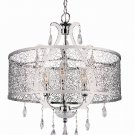Trans Globe Polished Chrome Crystal Pendant Light PND-612