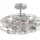Trans Globe Eight Light Crystal Semi Flush Ceiling Light MDN-1011