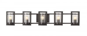 Trans Globe Transitional Black 5 Light Bathroom Vanity 20035
