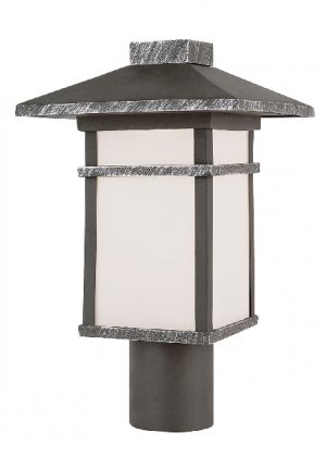 Trans Globe Outdoor Post Top Lantern with Frosted Glass 40023