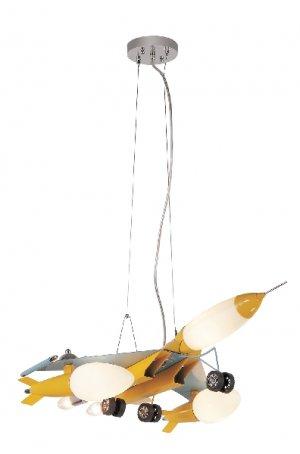 Trans Globe Gold Jet Fighter Adjustable Pendant Light KDL-851