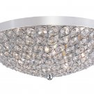 "Trans Globe Jeweled Crystal 16"" FlushMount Ceiling Light MDN-1097"