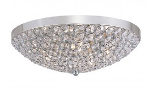Trans Globe Jeweled Crystal 16&quot; FlushMount Ceiling Light MDN-1097